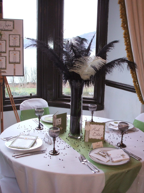 Designer Wedding Table with Leopard Print.