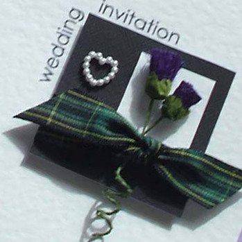 Discount Scottish Wedding Invitations with Tartan & Thistles.