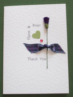 Scottish or Irish Wedding Thank You card.