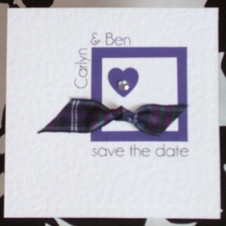 Scottish Wedding Save the Date. Choose your own tartan.