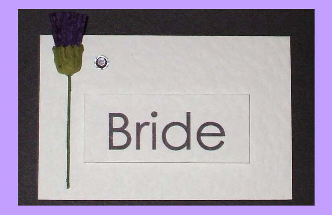 Scottish Wedding Place Name with Thistle.