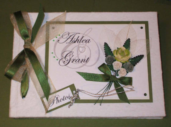Floral theme Keepsake Memory Book with Roses & Angel Charm. Can be personalised.
