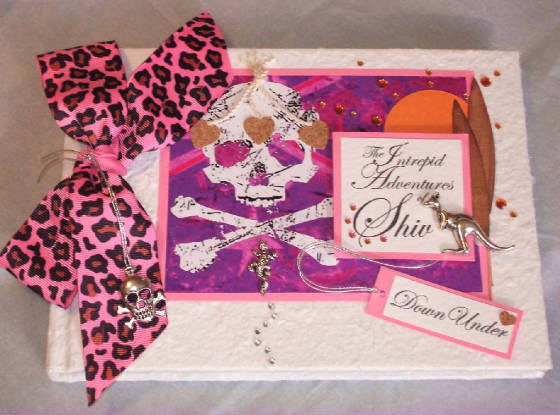 Funky Keepsake Memory Book with Leopard Print. Personalised.