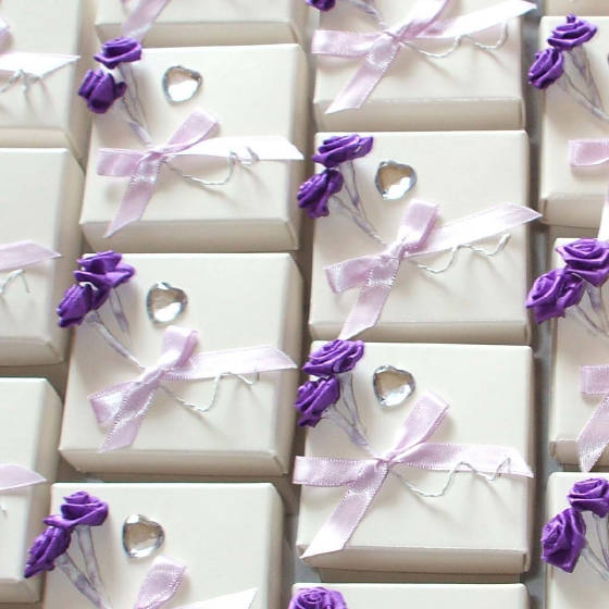 Wedding Favour Boxes with Roses