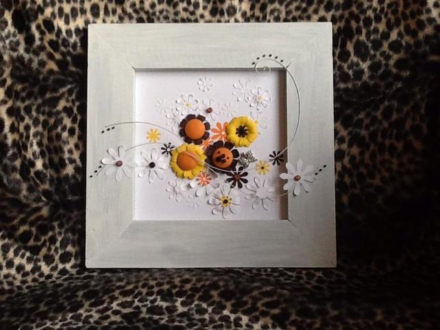 Sunshine Flowers Collage Art for Sale UK.