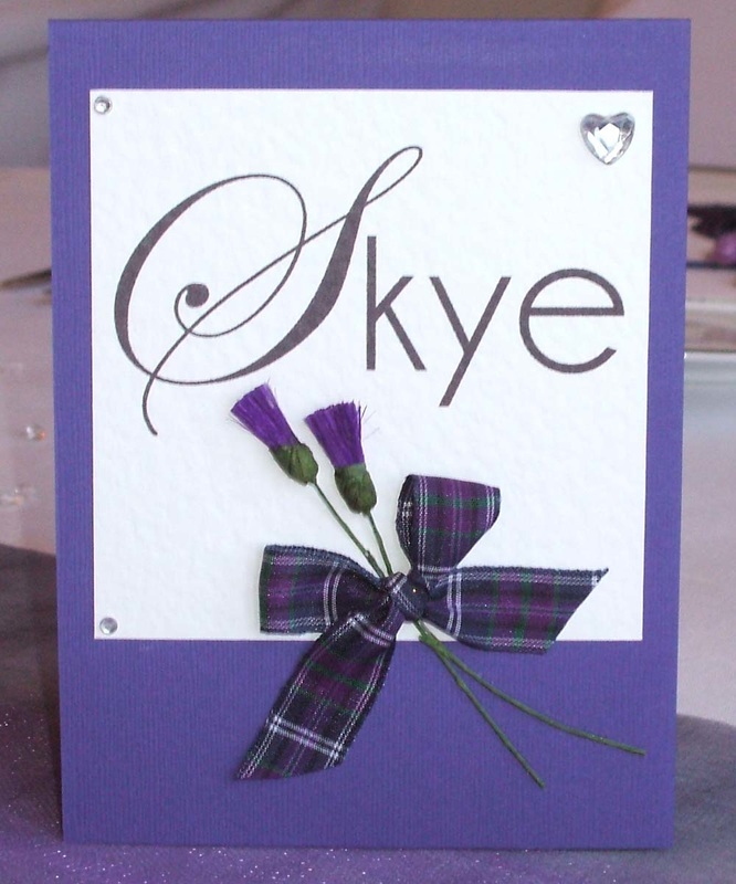 Scottish Wedding Table Name with Tartan & Thistles.